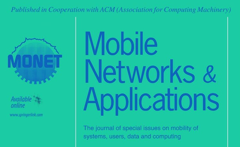 An article was accepted to ACM/Springer MONET journal.
